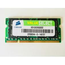 Corsair (VS1GSDS533D2) 1GB PC-4200 DDR2-533MHz SODIMM 200pin