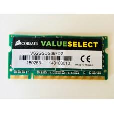 Corsair (VS2GSDS667D2) 2GB PC-5300 DDR2-666MHz SODIMM 200pin