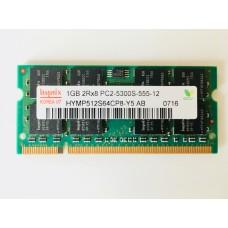 Hynix (HYMP512S64CP8-Y5 AB) 1GB PC-5300 DDR2-666MHz SODIMM 200pin