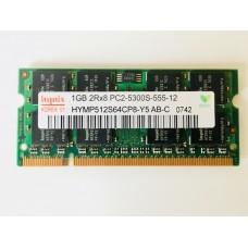 Hynix (HYMP512S64CP8-Y5 AB-C) 1GB PC-5300 DDR2-666MHz SODIMM 200pin