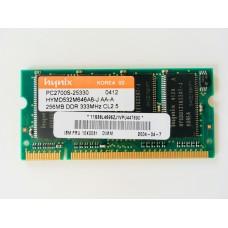 Hynix (HYMD532M646A6-J AA-A) 256MB PC-2700 DDR-333MHz SODIMM 200pin