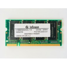 Infineon (HYS64D32020GDL-7-B) 256MB PC-2100 DDR-266MHz SODIMM 200pin
