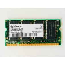Infineon (HYS64D32020HDL-6-C) 256MB PC-2700 DDR-333MHz SODIMM 200pin
